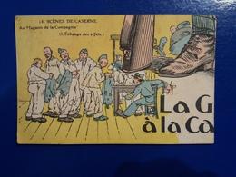 A. GAILLARD  1 CARTE PARTIE DE PUZZLE LA GAITE A LA CASERNE MILITAIRE - Illustrateurs & Photographes