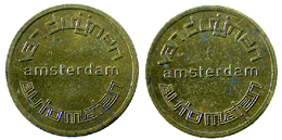 03108 GETTONE JETON TOKEN DISPENSER MACHINE VAN DUJNEN AUTOMATEN AMSTERDAM - Netherland