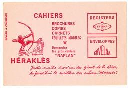 Buvard  21 X 14.1 HERAKLES Cahiers Naplan Registres Eterna Enveloppes Envelna Archer Dessin D'après Bourdelle - Papeterie