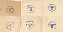 6 CACHETS DIFFERENTS ?-FELDPOFT -1940- POSTE Aux ARMEES ALLEMANDE-BE Sur Papier Epoque ? - Allemagne