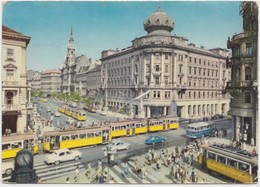 BUDAPEST, Crossing Of The Boulevard And Rakoczi Street, Hungary, 1966 Used Postcard [21061] - Hungary