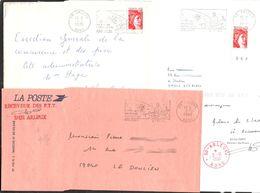 FRANCE '59 ARLEUX'  1978/1990  4 MARQUES POSTALES Et OBLITERATIONS - Marcophilie (Lettres)