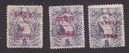 Guatemala, Scott #57-59, Mint No Gum, National Emblem Surcharged, Issued 1894 - Guatemala