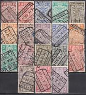 BELGIEN Eisenbahnpaket 1923 - MiNr: 136-155 18x Used - Bahnwesen