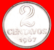 √ EFFIGY* BRAZIL ★ 2 CENTAVOS 1967! LOW START ★ NO RESERVE! - Brésil