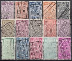 BELGIEN Eisenbahnpaket 1941 -  MiNr: 225-248  15x Used - Bahnwesen