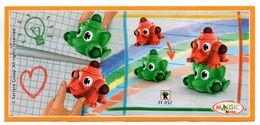 BPZ145 France : Ref : FF052 Série Crayons De Couleurs / Crayons Vert Et Rouge - Notices