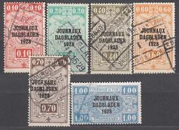 BELGIEN Zeitungspaketmarken 1928 -  MiNr: 1-19  6x Used - Zeitungsmarken