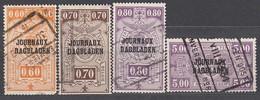 BELGIEN Zeitungspaketmarken 1929 -  MiNr: 20-41  4x Used - Zeitungsmarken