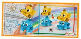 BPZ146 France : Ref : FF053 Série Crayons De Couleurs / Crayons Bleu Et Jaune - Instructions