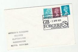 1979 FORGERIES OF GB STAMP EXHIBITION EVENT  COVER Warwick Philatelic Exhibition - Esposizioni Filateliche