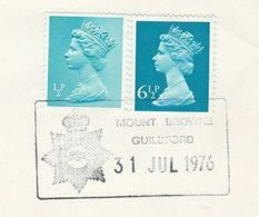 1976 MOUNT BROWNE POLICE GUILDFORD EVENT COVER Stamps GB - Police - Gendarmerie