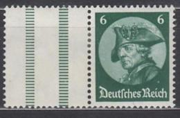 DR  WZ 9 1/2, Gestempelt, Frideicus 1933 - Zusammendrucke