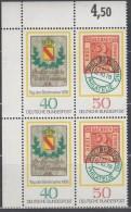 BRD 2x W Zd 1, Postfrisch **, 4erBlock, Tag Der Briefmarke 1978 - BRD