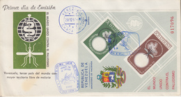 Enveloppe  FDC  1er  Jour   VENEZUELA    Bloc  Feuillet  Eradication  Du  Paludisme  Malaria   1962 - Disease