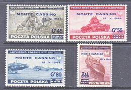 POLAND  EXILED  GOV.  3K 17-20   **  MONTE  CASSINO - 1939-44: World War Two