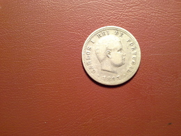 Portugal   100 Reis 1893 D.Carlos I  Silver - Portugal