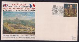 GB 1997 QE2 26p Stamp On Comm. Cover The Last Invasion Of Britain SHS  ( D1057 ) - Werbemarken, Vignetten