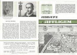 FOLDER  POSTE BELGE TP N°1334 + 1335 ABBAYE AFFLIGEM + ST JEAN BERCHMANS FDC DE DIEST ET HEKELGEM (2 SCANS) - Documents De La Poste