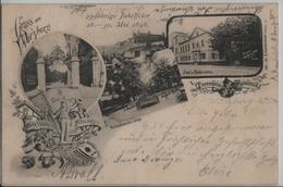 Gruss Aus Würzburg - Turnerheim Smolensk, 25-jährige Jubelfeier Mai 1898, Saal & Restauration, Wirtschaftsgarten & Kneip - Wuerzburg