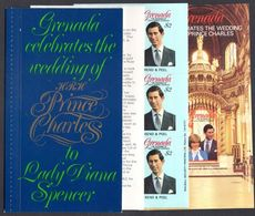 Grenada 1981 Royal Wedding Exploded Booklet Unmounted Mint. - Grenada (1974-...)