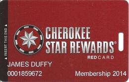 Cherokee Casinos Oklahoma - Slot Card - Copyright 2012 / P712320 Over Mag Stripe - Casino Cards