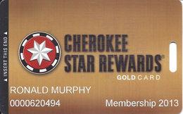 Cherokee Casinos Oklahoma - Slot Card - Copyright 2011 - Casino Cards