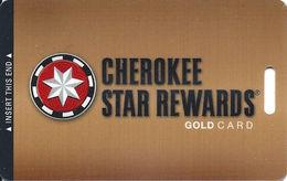 Cherokee Casinos Oklahoma - Slot Card - Copyright 2012 BLANK - Casino Cards