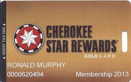 Cherokee Casinos Oklahoma - Slot Card - Copyright 2012 - Casino Cards