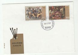 1975 YUGOSLAVIA FDC HORSE Detoni ART Stamps Cover Horses - Horses