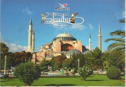 Basilique Sainte-Sophie D'Istanbul, Belle Carte Postale Adressée ANDORRA,avec Timbre à Date Arrivée - Turquie