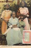 MADAGASCAR DIEGO-SUAREZ JEUNES FEMMES MALGACHES + TIMBRE CACHET ETHNOLOGIE ETHNIC - Madagascar