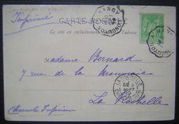 1899 Pont à Mousson, Jolie Carte Précurseur Avec Oblitération Longuyon à Nancy (Convoyeur) Pour La Rochelle - Postmark Collection (Covers)