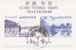 Korea Scott 439a 1964 Views, Souvenir Sheet, Used - Corée Du Sud