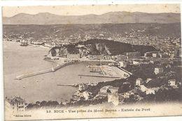 NICE .35. VUE PRISE DU MONT BARON . ENTREE DU PORT . ECRITE LE 8 FEVR 1916 AU VERSO - Transport Maritime - Port