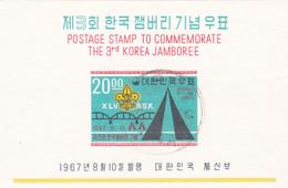 Korea Scott 581a 1967 The 3rd Korean Scout Jamboree, Souvenir Sheet, Used - Korea, South