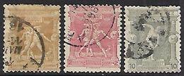 Greece 1896  Sc#117-8, 120   3 Diff   Used  2016 Scott Value $13.25 - Oblitérés