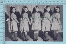 """Les Quintuplées Dionne # 21 - Cpm """" Jumelles Dionne""""  Né En 1934, Fillettes - Ont, Canada, Reproduction - Groupes D'enfants & Familles"""