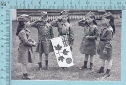 """Les Quintuplées Dionne # 11 -CPM  """" Jumelles Dionne""""  Né En 1934,  Le Salut Au Drapeau - Ont, Canada, Reproduction - Groupes D'enfants & Familles"""