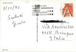 TIMBRO SU CARTOLINA: LA RICEZIONE DELLA RADIO TELEVISIONE ESIGE UN'AUTORIZZAZIONE 1993 (361) - Svizzera