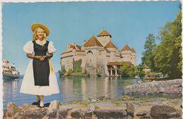 SUISSE,HELVETIA,SWISS,SCHWEIZ,SVIZZERA,SWITZERLAND ,VAUD,chateau De Chillon,veytaux,Montreux, Lac Léman,rare - VD Vaud