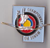 PIN'S THEME SPORT  TIR A L'ARC  CLUB DE PERPIGNAN  CHAMPIONNAT DU MONDE  1993 - Archery