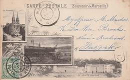 Marseille 1901 Souvenir De Marseille.  Avec La Sainte Béaume - Marsella