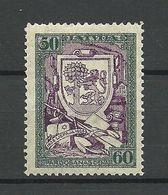 LETTLAND Latvia 1925 Libau Michel 111 A * - Letland