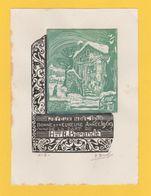 1969 Bon Noël-Année René Barande Graveur D'Ex-Libris Sur Bois Catalan Xylographie Roussillon Signé - Ex-libris
