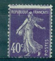 FRANCE SEMEUSE N°236 Variete N Xx  Chenille Sous Le B TB - Variétés: 1921-30 Neufs