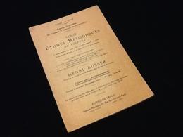 Vingt Etudes Mélodiques De Solfège Par Henri Busser - Etude & Enseignement
