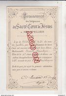 Au Plus Rapide Montpellier Hérault Pensionnat Sacré Coeur De Jésus 3 ème Accessit Arithmétique Edmée B.. 21 Juillet 1905 - Diplomi E Pagelle