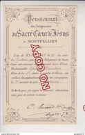 Au Plus Rapide Montpellier Hérault Pensionnat Sacré Coeur De Jésus 3 ème Accessit Histoire Edmée B.. 21 Juillet 1905 - Diploma & School Reports