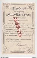 Au Plus Rapide Montpellier Hérault Pensionnat Sacré Coeur De Jésus 2 ème Accessit Instruction Religieuse Edmée B.. - Diplomi E Pagelle